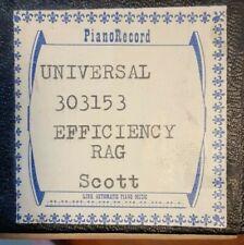 EFFICIENCY RAG BY JAMES SCOTT RECUT PLAYER PIANO ROLL