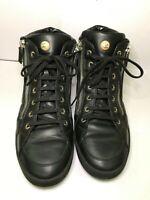 CHANEL Calfskin Pearl High-Top CC Sneakers