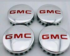 "GMC POLISHED Aluminum wheel Center Caps 22837060 83mm 3.25"" Sierra Yukon Denali"