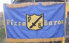 Original Banner Flag Sign of Pizza Baron in Upstate New York Defunct Restaurant