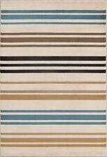 Striped Modern Turkish Oriental Area Rug Foyer New Carpet 5x8