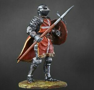 Medieval KNIGHT OF THE ORDER OF HOSPITALS  PAINTED. Tin Soldiers 54mm 1/32
