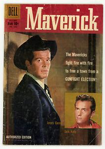 JERRY WEIST ESTATE FOUR COLOR (Dell 1959-60) #1005 MAVERICK (VG) & 1059 (VG)