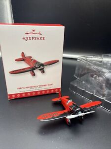 Hallmark Airplane Travel Air Model R Mystery Ship 21st in Series 2017 Ornament