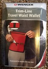 "New Swiss Army Wenger Trim-Line Travel Waist Wallet Red adj. belt up to 45"""