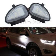 2x 6k White LED Under Side Mirror Puddle Light Lamp For VW GTi Golf MK6 6 MKVI