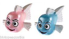 Aquarium ornament - PINK FISH with big eyes - decoration for tank kids novelty