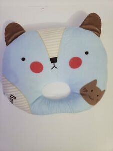 NewBorn Blue Baby Pillow, 3D Air Mesh, Breathable 100% Cotton