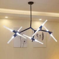 10-Lights Modern Metal Chandelier Glass Branch Pendant Lamp Ceiling LED Fixtures