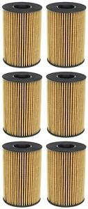Set of 6 BMW X5 Mahle Engine Oil Filters OX353/7DECO 11427583220