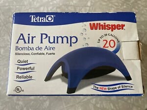 Tetra Whisper 20 Aquarium Air Pump for 20 gallon Aquariums SUPER QUIET Fish Love