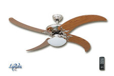LuxVen® Deckenventilator Nickel gebürstet, einzigartige Flügel | LV-161BN-Eiche