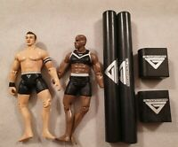 The Gladiators British TV Show Action Figures with Pugel Sticks BSkyB 2008 2009