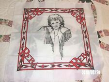 VINTAGE 70s 80s Reba McEntire Bandana Scarf orig owner MINT RED & WHITE