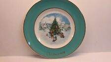 """Wedgwood for Avon 1978 Christmas Plate 8th Edition """"Trimming the Tree"""""""
