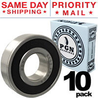 Lot of 10 PCS, 6203-2RS Premium C3 Rubber Sealed Ball Bearing, 17x40x12, 6203RS