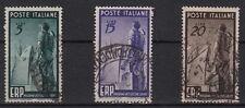 1949 ITALIA Serie E.R.P. 3 Valori Usati Sassone 601/3 Ottimi Annulli