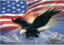 "SMALL BIKER FLAG AMERICAN EAGLE IN FLIGHT MOTORCYCLE FLAG BIKER 6"" X 9"""