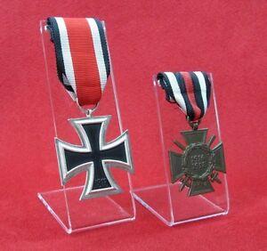 3 Stück Ordensständer Ständer für Orden an Band ohne Tragenadel groß z.B. EK2
