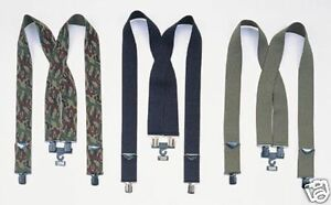 Rothco 4194/4196/4199 2 In. Wide Pants Suspenders - Camo- Black Or Olive Drab