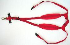 RED! Neck strap harness for Sax padded alto tenor bari Saxophone
