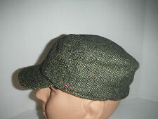 Stetson wool tweed herringbone cadet cap Hat fleece lined large / xl New