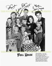 FULL HOUSE AUTOGRAPHED CAST SIGNED 8x10 RP PHOTO JOHN STAMOS BOB SAGET +