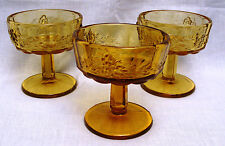 Tall Sherbet Glasses (set of 3) - Golden Sunset Panel Grape by Westmoreland