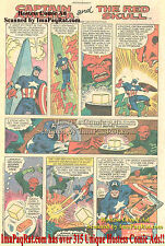 Hostess Twinkies Captain America The Red Skull COSMIC CUBE Great Comic Print Ad!