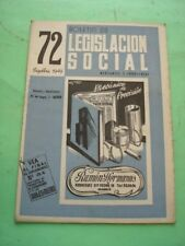 REVISTA - MAGAZINE BOLETIN DE LEGISLACION SOCIAL Nº 72