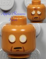 NEW Lego Movie VITRUVIUS MINIFIG HEAD - White Eyes Medium Dark Flesh 70810 70809