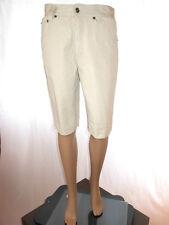 SALTY WAVES Womens Vtg Beige Boyfriend Jeans Casual Crop Pants Shorts sz M AF53