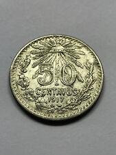 1917 Mexico 50 Centavos Silver XF+ #14569