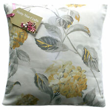 Vintage/shabby Chic Laura Ashley Hydrangea Camomile Lemon Fabric Cushion Cover 20x20 Same as Front