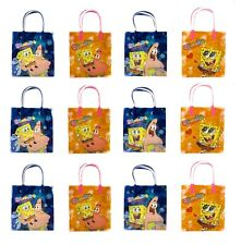 "12PCS  Sponge Bob Squarepants Medium size 8"" Goodie Bag Favor Filler Gift Bag"