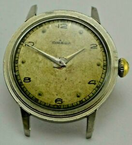 Vintage Omega R17.8 SC 1940s Stainless Stell Hand Winding Men watch Repair Parts