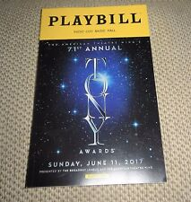 71st TONY AWARDS PLAYBILL PROGRAM 2017 Authentic 144 pages Kevin Spacey