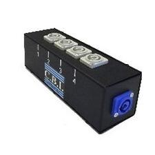 CBI Neutrik PowerCon Quad Box Drop Power Distribution (4) Outlet