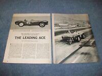 """1960 A.C. Ace Bristol Vintage Race Car Info Article """"The Leading Ace"""""""