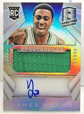 James Young 2014-15 SPECTRA Prizms Spectacular Jersey RC on-card Auto #'d 58/149