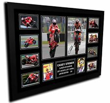 CASEY STONER 2x MOTO GP CHAMPION SIGNED LIMITED EDITION FRAMED MEMORABILIA