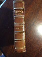 1900s RARE EDITION Leather Romance Leonardo Da Vinci Merejkowski Bound Excellent