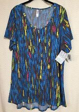 NWT LuLaRoe CLASSIC T 2XL* Colorful Blue Coral Yellow Gold Navy Lime 2X