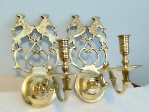 Old Virginia Metalcrafters Colonial Williamsburg Chowning Tavern Brass  Sconces
