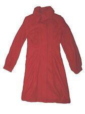 Women Arden B. Red Wool Long Car Driving Jacket Coat Size XS