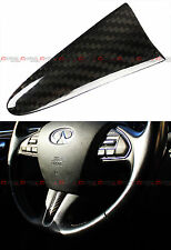 FOR 2015-17 INFINITI Q50 CARBON FIBER ADD-ON STEERING WHEEL CENTER PIECE COVER