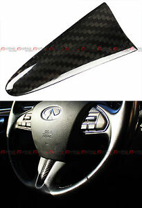 FOR 2014-2017 INFINITI Q50 CARBON FIBER ADD-ON STEERING WHEEL CENTER PIECE COVER