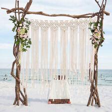Macrame Wedding Backdrop Cotton Handmade Wall Tapestry Art Boho Wedding Decor