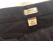 Damen schwarze True Religion Stretch Skinny Schwarz Hose Jeans Style Größe 24