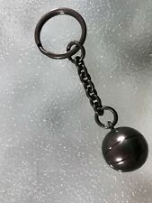 BASKETBALL BASKET BALL Solid Silver Metal Key Ring Chain KeyChain KeyRing NEW